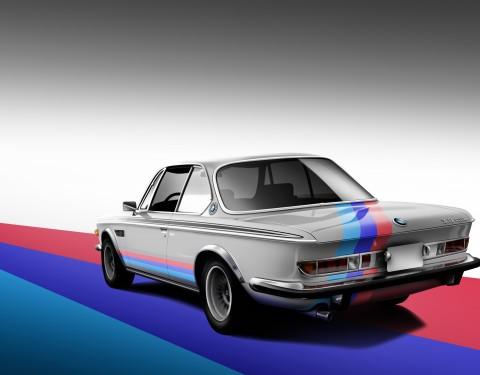 BMW 3.0 CSL illustrations